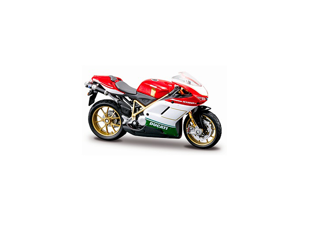 Ducati 1098S in Red, White and Green
