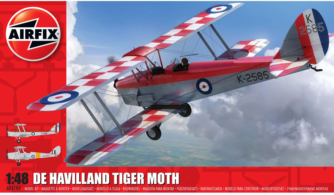 De Havilland DH82A Tiger Moth (K-2585 Royal Air Force Central Flying School Aerobatic Team 2018) [Kit]
