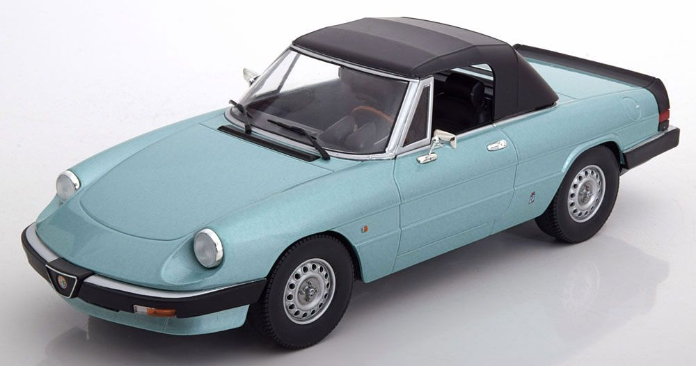 Vehicles Alfa Romeo Spider (1983) in Light Blue (1:18 scale by KK Scale Models DC180172)