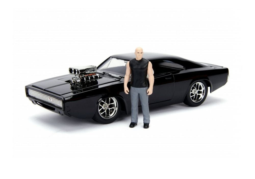 Collectibles & Rare Objects Dodge Charger RT Diecast Model Car Kit with Dom Figure from Fast And Furious